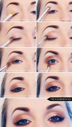 Sexy Eye Makeup Tutorials - Everyday Neutral Smokey Eye Tutorial - Easy Guides on How To Do Smokey Looks and Look like one of the Linda Hallberg Bombshells - Sexy Looks for Brown, Blue, Hazel and Gree Brown Smoky Eye, Neutral Smokey Eye, Smoky Eyes, Smokey Eye Makeup, Skin Makeup, Neutral Eyeshadow, Makeup Contouring, Makeup Brushes, Brown Eyeshadow