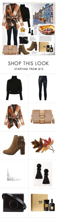 """""""Outfit for Prague"""" by natalyapril1976 ❤ liked on Polyvore featuring Creatures of the Wind, J Brand, Anne Klein, Lemaire, Tom Ford, Kenneth Jay Lane and Balmain"""