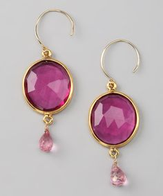 Take a look at this Amelia Rose Design Gold & Ruby Cabo Gem Drop Earrings by Amelia Rose Design  on #zulily today!