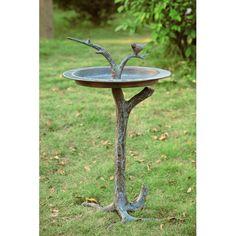 Bird And Twig Sundial Bird Bath Spi Home With Pedestal Bird Baths Outdoor