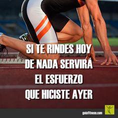 La motivación lo es todo, si te rindes nada servirá