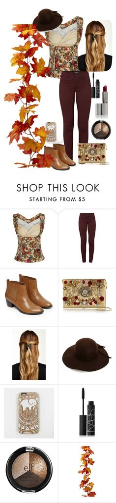 """""""Fall"""" by katiecutie31 on Polyvore featuring J Brand, Warehouse, Dolce&Gabbana, Natasha Accessories and NARS Cosmetics"""