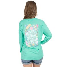 Sugar and Spice Long Sleeve Tee in Seafoam by Lauren James #$0-to-$50 #cf-size-m #cf-size-s