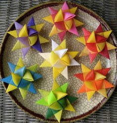 Moravian Stars-they're so much fun to make, although they're usually for Christmas time.