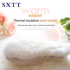 Good Deal $7.32, Buy SXTT Natural Sheepskin wool boot Insoles Cashmere Thermal Shearling Snow Boots Shoe Pad Fur Wool Adult Winter Shoes Warm