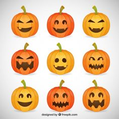 Halloween Vectors, Photos and PSD files Halloween Vector, Halloween Ii, Halloween Themes, Halloween Pumpkins, Funny Halloween, Easy Pumpkin Carving, Pumpkin Carving Patterns, Cute Pumpkin, Pumpkin Head
