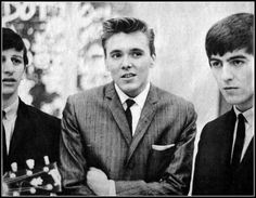 Ringo Starr, Billy Fury and George Harrison