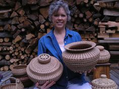 pineneedle baskets | Pine Needle Baskets by Serialspinner | Other Ideas    Big Baskets-Fabulous!