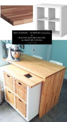 Diy Kitchen Island Ikea diy ikea hack - kitchen island tutorial - construction 1   cocinas