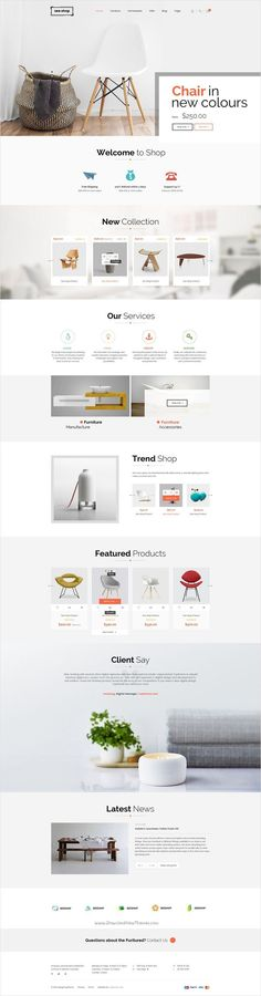 Buy See Shop Furniture - Interior RTL Responsive WooCommerce WordPress Theme by on ThemeForest.Shop is a modern, clean and professional WordPress Woocommerce Theme, It is fully responsive, it looks stunning . Website Design Inspiration, Web Design Inspiration, Website Layout, Web Layout, Store Layout, Website Themes, Web Design Tips, Page Design, Design Design