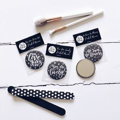 No Rain No Flowers Pocket Mirror Pocket Mirror Set Pop Clothing, No Rain No Flowers, Luxury Packaging, Mirror Set, Hand Lettering, Monochrome, Great Gifts, Buy And Sell, Pocket