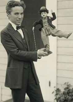 Charlie Chaplin out of character - 1918