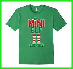Mens Mini Elf Funny Christmas Family Santa Hat Boots Gift T Shirt Small Grass - Holiday and seasonal shirts (*Amazon Partner-Link)