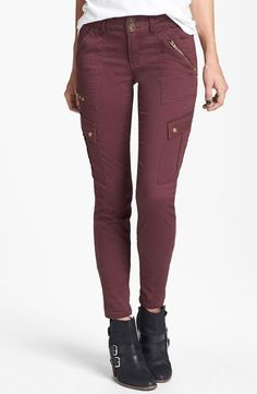 Try it: Oxblood Cargo Pants