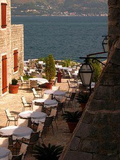 Terrace on the coast - Budva - Montenegro