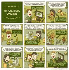 Hipocrisia online...