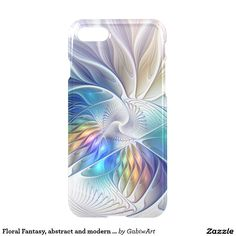 Floral Fantasy, abstract and modern Fractal Art iPhone 7 Case