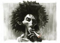 Bob Marley | Art By Stephen Lorenzo Walkes