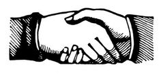 Vintage Clip Art - Shaking Hands - Victorian - The Graphics Fairy