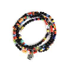 Onyx Skull Trade Wrap Bracelet