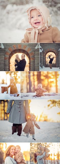 9 month baby winter photo session