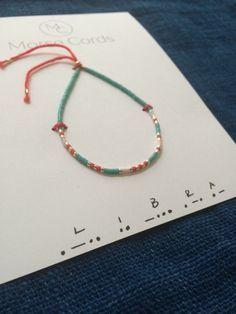 Morse Code Bracelet Libra by morsecords on Etsy