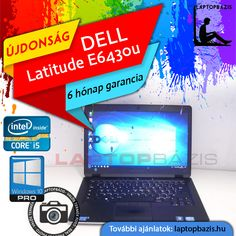 "Dell Latitude E6430u Ultrabook, SSD, Intel Core i5-3427U, 4 GB RAM, 14"" HD+ LED kijelző, webkamera, Windows 10 Pro  Ár: 89 900.- Ft"