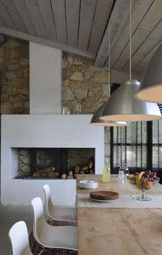 rustic modern industrial: this feel for our dining/office space.