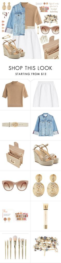 """My mood today"" by jan31 ❤ liked on Polyvore featuring Theory, malo, Gucci, Frame, Salvatore Ferragamo, Sergio Rossi, Gas Bijoux, BHCosmetics, Yves Saint Laurent and ULTA"