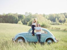 There are times when an engagement comes together so perfectly that just you can't help but admire it. High school sweethearts Laci and Jonathan's session just happens to be one of these. Photographed by Sawyer Baird among the rolling hills of North Georgia this engagement couldn't be more lovely. With an adorable 1962 seafoam VW...