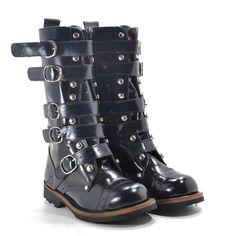 Black Boots - Coturno Black Boots 5 Fivelas Preto - BlackBoots