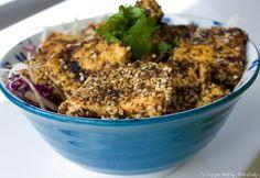 Recipe: Sesame Peanut Crusted Tofu. Vegan Delish.