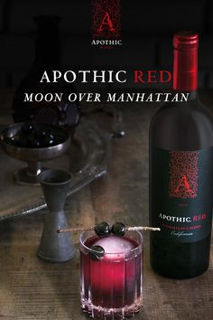 This mysterious cocktail flawlessly blends bourbon with the smooth hints of vanilla in Apothic Red combined with Maraschino cherries, a hint of orange peel and simple syrup. Halloween Drinks, Holiday Drinks, Party Drinks, Fun Drinks, Yummy Drinks, Beverages, Halloween Games, Easy Halloween, Wine Cocktails