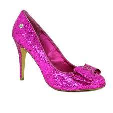 Bright pink glittery heels