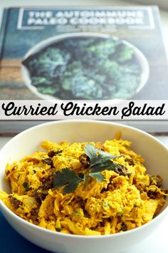 Curried Chicken Salad from The Autoimmune Paleo Cookbook // TheCuriousCoconut… Source by jaime_hartman Paleo Pizza, Autoimmun Paleo, Paleo Recipes, Real Food Recipes, Chicken Recipes, Cooking Recipes, Paleo Cookbook, Cookbook Recipes, Chicken Curry Salad