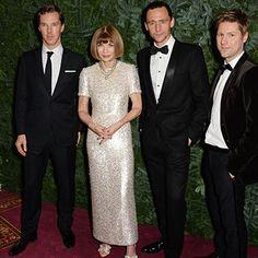 Benedict Cumberbatch, Anna Wintour, Tom Hiddleston and Christopher Bailey