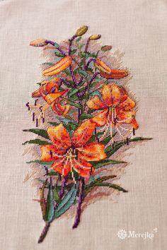 K-90: Vintage Lilies – Merejka – Cross-Stitch Kits