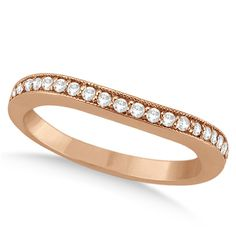 Round Cut CZ Rose Gold Plated 925 Silver Wedding Engagement Band Ring. Starting…