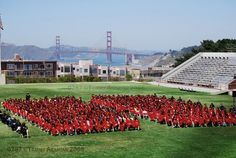 view of The Golden Gate Bridge from George Washington High School.