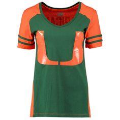 Miami Hurricanes Women's Presidio V-Neck T-Shirt - Orange - $21.84