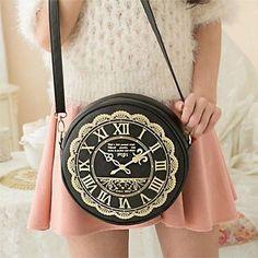 GUYS. PLEASE.  Clock Watch Pattern Bag Cute Kawaii Lolita Handbags Purses Side Bag 6Colors | eBay