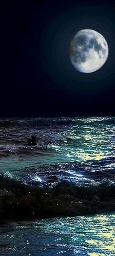 ♡♡Moon over the sea