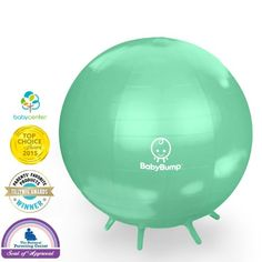 Amazon.com : Baby Bump(TM) Birth Ball with Legs - Prenatal/Postpartum Fitness, Induce Labor, Calms Baby, Doula Tool, Better Than a Rocking Chair! - Beeswax Yellow : Baby