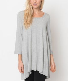 Look what I found on #zulily! Gray Ballerina Tunic by Caralase #zulilyfinds