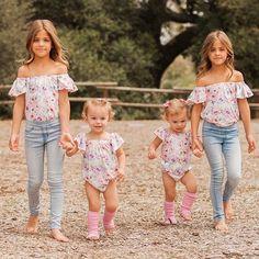 Stand Back! Ultimate cuteness headed your way! Beautiful Little Girls, Beautiful Children, Beautiful Babies, Cute Twins, Cute Girls, Cute Babies, Twin Girls Outfits, Cute Girl Outfits, Little Girl Models