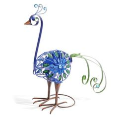 Exhart 53193 Filigree Peacock Spinner by Exhart. Save 5 Off!. $51.99. Metal construction with glass beads. For indoor or outdoor use. When the wind blows, the spinner twirls. Bring the stunning beauty of this elegant filigree bird into your home or garden. Delightfully crafted, this exquisite bird features splendid details of sculpted metal and colorful glass beads. When the wind blows, the spinner twirls, providing added visual interest.