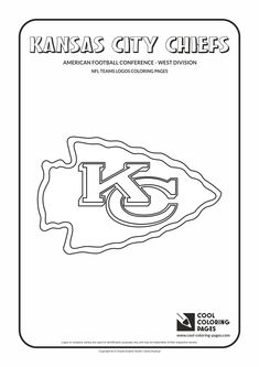 kansas city chiefs nfl american football teams logos coloring pages