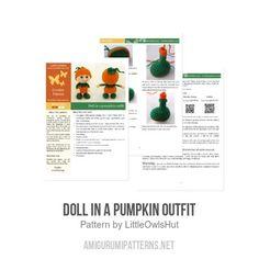 Doll in a Pumpkin outfit amigurumi pattern - Amigurumipatterns.net