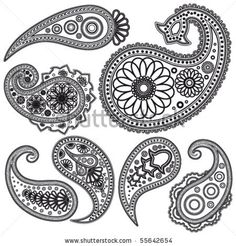 Eps Vintage Paisley  patterns for design. by Itana, via Shutterstock