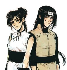 Tenten and Neji #back to back